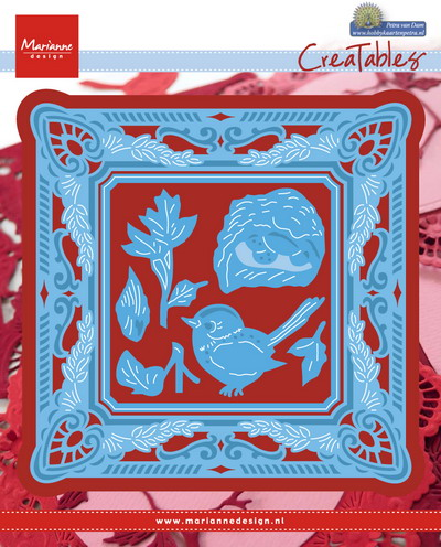 Creatables stencil -  Petra's circle square with nest