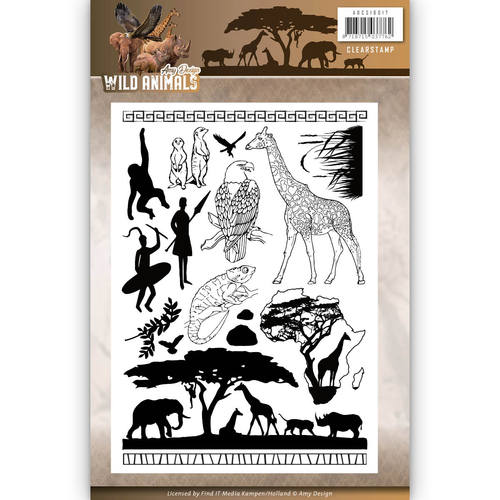 Clearstamp - Amy Design - Wild Animals adcs10017