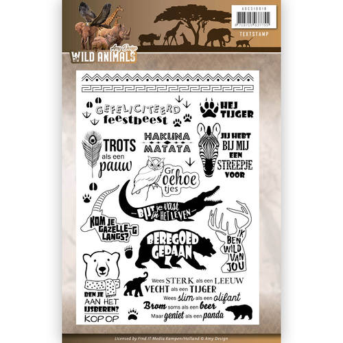 Clearstamp - Amy Design - Wild Animals tekst adcs10016