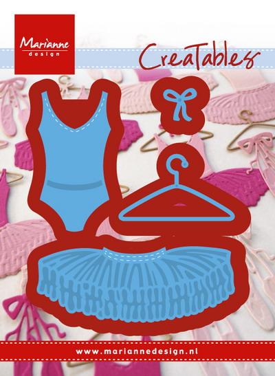 Marianne desgn - Creatables stencil - ballet dress