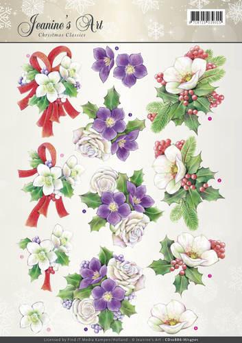 3D Knipvel - Jeanines Art - Christmas Classics - Helleborus