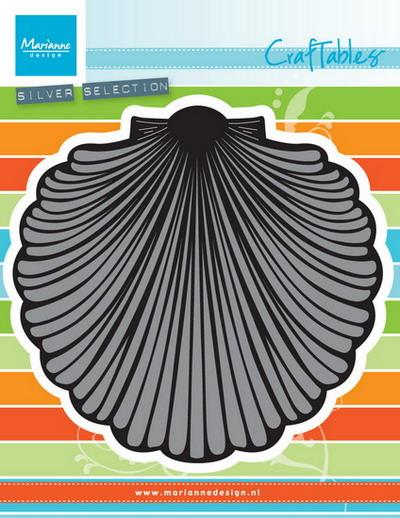 Marianne desgn - Craftables stencil - seashell XL