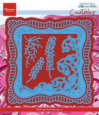 Marianne desgn - Creatables stencil - Anja's frilly square