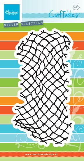 Marianne desgn - Craftables stencil - Tiny's fishnet