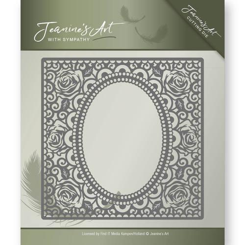 Die - Jeanine's Art - With Sympathy - Rose Frame  JAD10011