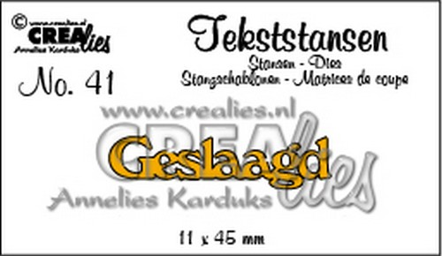 Crealies Tekststans no 41 Geslaagd