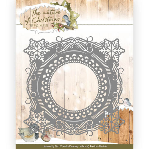 Die - Precious Marieke - The nature of Christmas - Christmas Snowflake frame