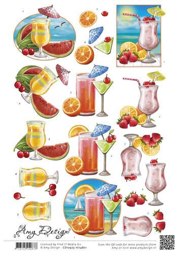 3D Knipvel - Amy Design -Summer Drinks