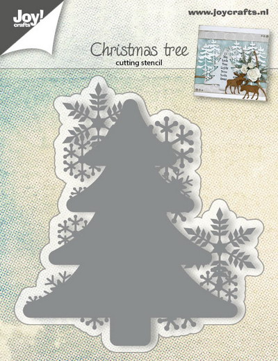 Joy! stencil kerstboom en sneeuwvlokken 6002/0682