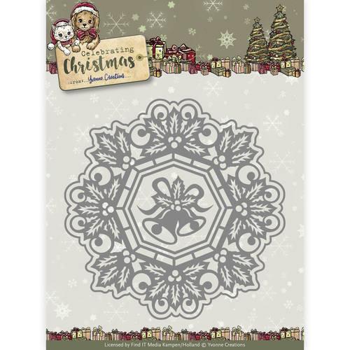 Die - Yvonne Creations - Celebrating Christmas- Jingle Bells Circle Frame