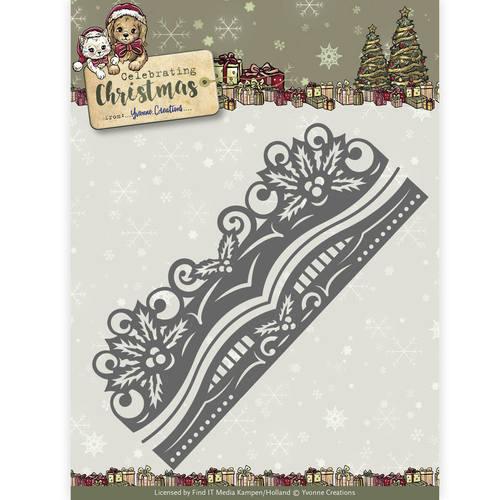 Die - Yvonne Creations - Celebrating Christmas- Holly Border