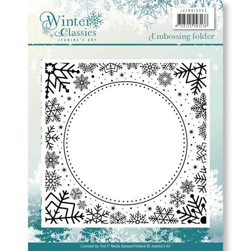 Embossing Folder - Jeanines Art - Winter Classics  JAEMB10003