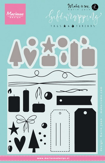 Marianne desgn - Clear Stamp giftwrapping - tags & threads