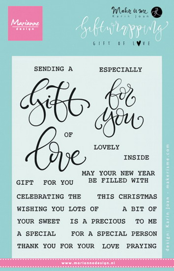 Marianne desgn - Clear Stamp giftwrapping -gift of love