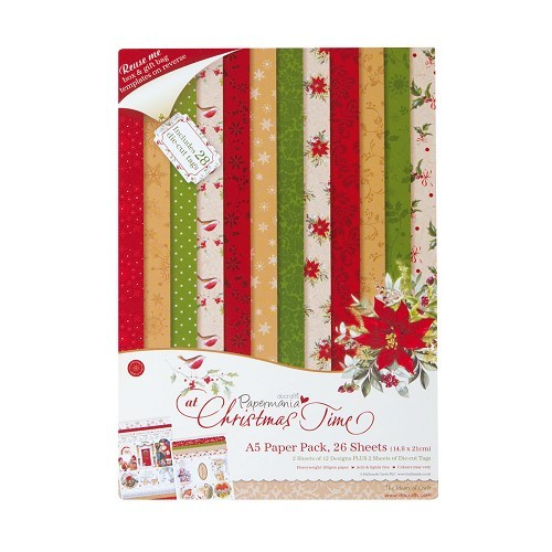 Docrafts - Papermania - Paperpack - At Christmas Time PMA 160910