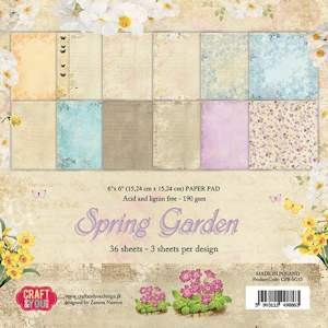 Craft & You Design - Paperpack - Spring Garden CPB-SG15
