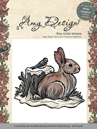 Clearstamp - Amy Design - Snow rabbit adst10016