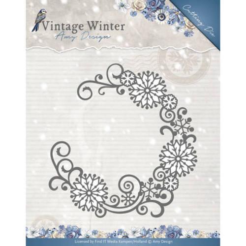 Die - Amy Design - Vintage Winter - Snowflake Swirl Round