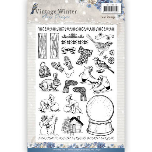 Clear Stamp - Amy Design - Vintage Winter adcs10021