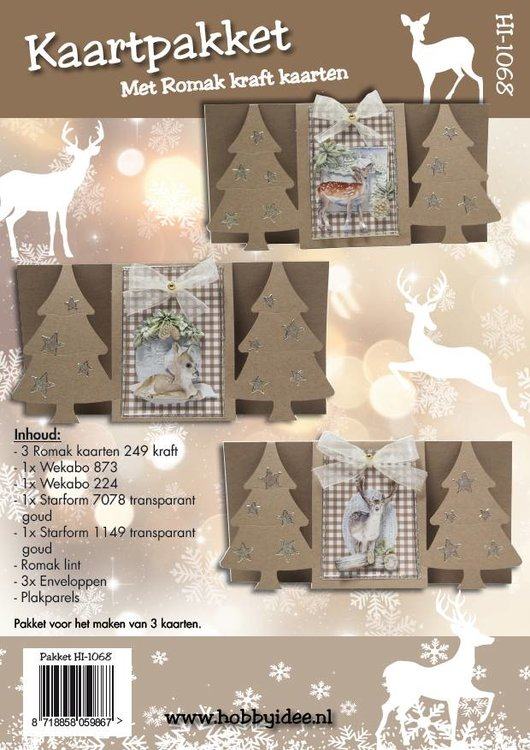 Kaartpakket - kerst HI-1068 - Hobbyidee