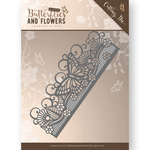 Die - Jeanine's Art - Classic Butterflies and Flowers - Butterfly Border
