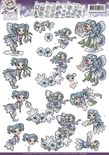 3D Knipvel - Yvonne Creations - Magical winter - Fairies  cd10587