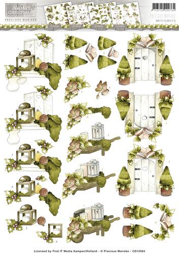 3D Knipvel - Precious Marieke - Rustic Christmas - Garden  cd10564