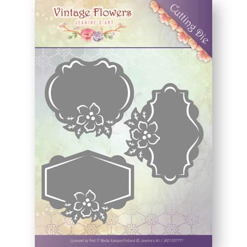 Dies - Jeanine's Art - Vintage Flowers - Floral Labels  JAD10036