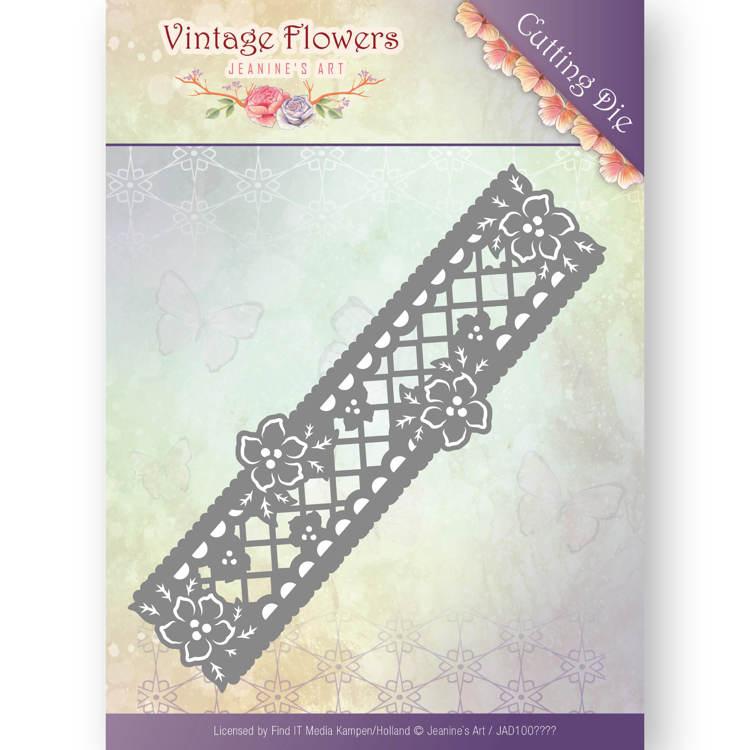 Dies - Jeanine's Art - Vintage Flowers - Floral Border  JAD10033