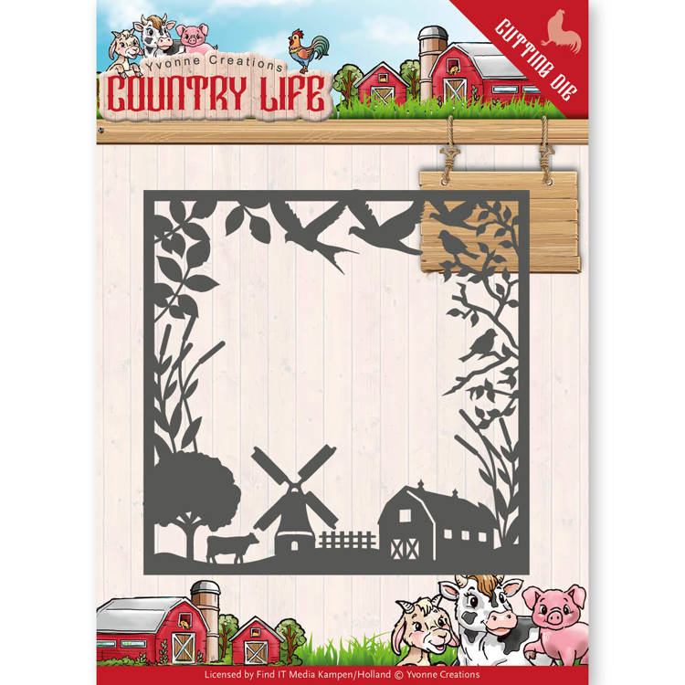Dies - Yvonne Creations - Country Life Country Life Frame  YCD10123