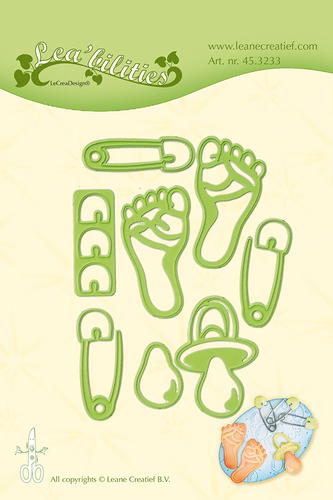 LCR45.3233 Leabilitie® Baby Things snij en embossing mal