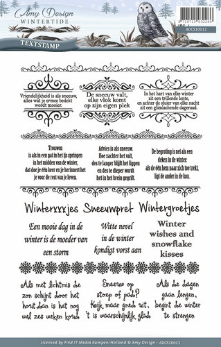 Clearstamp - Amy Design - Wintertide - Tekst  ADCS10012