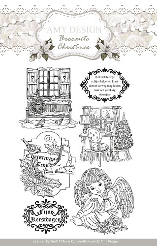 Clearstamp - Amy Design - Brocante Christmas ADCS10002