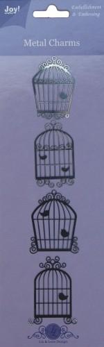 Joy! crafts - Metal Charms - Vogelhuisjes - 6350/0102