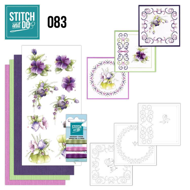 STDO083 Stitch and Do 83 - Purple Flowers