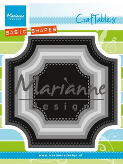 Craftables stencil basic square CR 1438