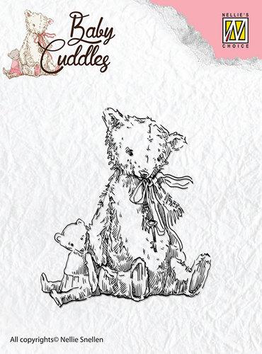 Clear Stamps - Baby Cuddles - Teddybears  - CSBC004