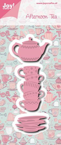 Joy! stencil 6002/0976 -  afternoon tea kopjes & theepot