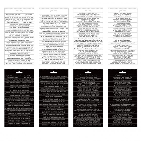 Tim Holtz small talk snarky stickers x218 words