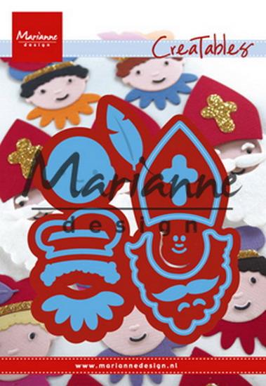 Marianne desgn - LR0565 -   Creatables stencil Sinterklaas en Pieterbaas
