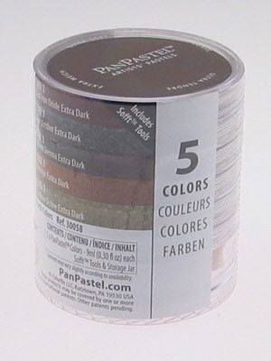 PanPastel set 5 extra dark Earth 30058