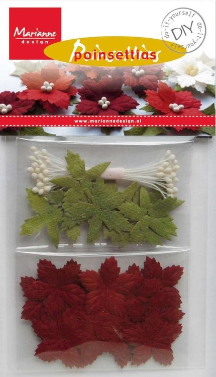 Flowers bordeau , kerst Marianne design