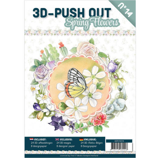 3DPO10014 3D Pushout Book 14 Spring Flowers