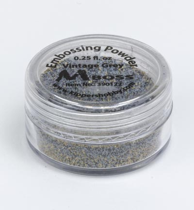 Mboss Embossing powder - Vintage Grey