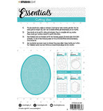 Studio Light Embossing -  SL Cutting Die Small shape oval puzzle Essentials nr.386_