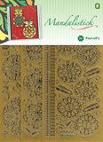 JeJe - Mandalistick Peel-off`s - Christmas Baubles 3-pack - Goud_