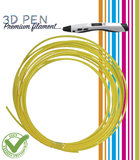 3D Pen filament - 5M - geel_