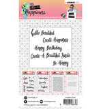 Studio Light Clear Stempel, A6, STAMPCR346 - Stamp Create Happiness nr.346_