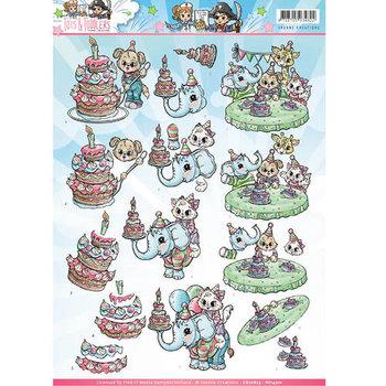 Tots and Toddlers - 3D Knipvel - Verjaardag