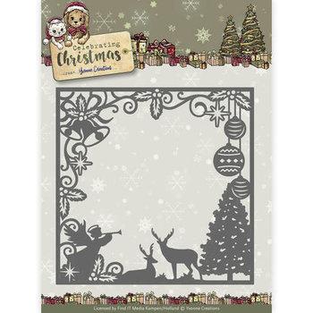 Die - Yvonne Creations - Celebrating Christmas- Scene Square Frame